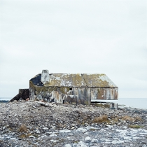 Abandoned bunker on the northeast coast of the island of Grogarnsberget Gotland Sweden