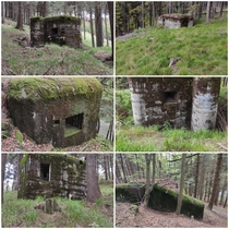 Abandoned bunkers built before WWII on Czechoslovakian border