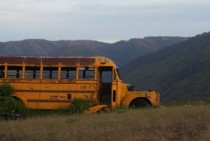 Abandoned Bus in the Blue Mountains Washington