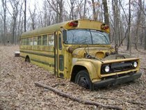 Abandoned Bus in the woods of Iowa