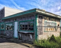 Abandoned business in the village of Buzzards Bay Massachusetts