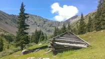 Abandoned Cabin - Found backpacking through the Sangre de Cristo Mountains Colorado