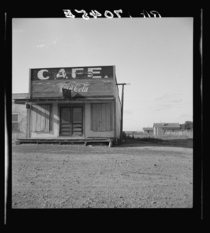 Abandoned cafe in Carey Texas Carey is fast becoming a ghost town of the Texas plains June  by Dorothea Lange
