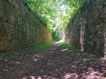 Abandoned canal locks in Lancaster South Carolina There are walking trails there now