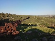 Abandoned canon in Mount Horshan Israel