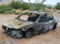Abandoned car Apache Trail AZ