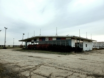 Abandoned car dealership in central illinois