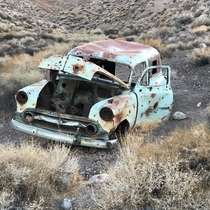Abandoned car in Death Valley with a TON of bullet holes