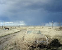 Abandoned Car in Grass Benton Montana By Patrick Warner