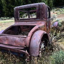 Abandoned car in Montana Ghost Town x