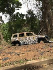 Abandoned car in Puerto Rico Fire is Ephemeral