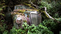 Abandoned car in Swedish forest album in comments