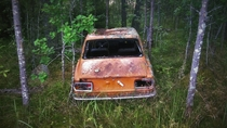 Abandoned car on Kimito island Finland