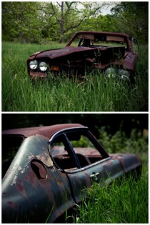 Abandoned cars in rural Indiana