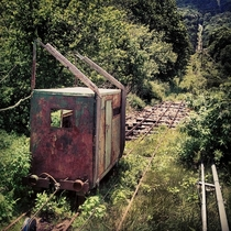 Abandoned cart on Mt Pisgah North Carolina