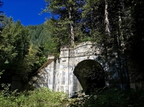 Abandoned Cascade Railway Tunnel Stevens Pass Washington USA