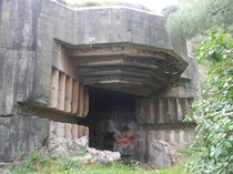 Abandoned casemate of the Mameli battery near Genoa Italy