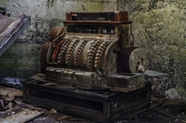 Abandoned cash register in a crumbling building Aberdeen WA   Paula M Smith