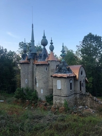 Abandoned castle in Rougemont NC The owner couldnt afford to finish building it
