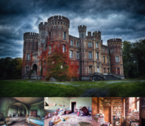 Abandoned Castle Moulbaix - Ath Belgium - including a bedroom the nursery and library -