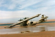 Abandoned Catalina seaplane  years between the sea and the desert