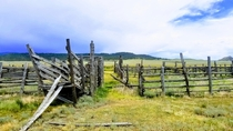Abandoned cattle corral in the mountains of Colorado