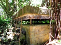 Abandoned cement structure that I found on a hike in Hawaii