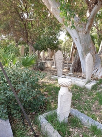 Abandoned cemetery amp mosque Reis Murat Mosque in Rhodes Greece