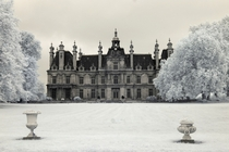 Abandoned Chateau outside Paris  in Infrared