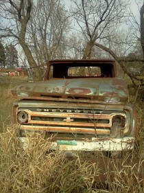 Abandoned Chevy in rural MN