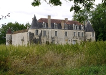 Abandoned chteau near Saint-Mor France