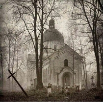 Abandoned church amp cemetery in the woods X