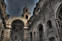 Abandoned church in Bussana Vecchia Liguria Italy