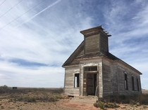 Abandoned church in rural New Mexico USA