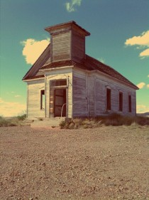 Abandoned church in Taiban New Mexico OC