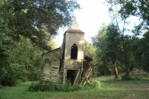 Abandoned church in the woods Chackbay Louisiana