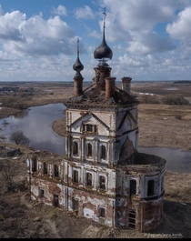 Abandoned church in Vladimir oblast Russia