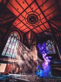 Abandoned church in West Philly with smoke bomb added for a little razzle dazzle