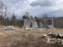 Abandoned church of st Cantianus in Rakov kocjan It is actually a part of open air museum learning trail as nerby are natural bridges caves gorges and various other karst phenomenons
