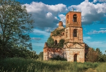 Abandoned Church of St Nicholas Smolensk Oblast Built in  abandoned since