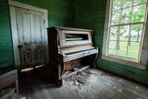 Abandoned Church Piano -