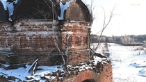 Abandoned Church Russia Vladimir region Built - by the parishioners and the money of the Moscow merchant Lepeshkina