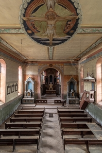 Abandoned church with beautiful paintings germany