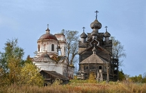 Abandoned churches in Paltoga Vologda Oblast Russia