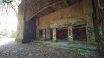 Abandoned cinema inside of Ghost Town Bali