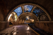 Abandoned City Hall Station NY Completed in  abandoned in  due to its tightly curved track being unable to accommodate longer trains x
