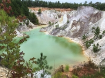 Abandoned clay pit South Carolina