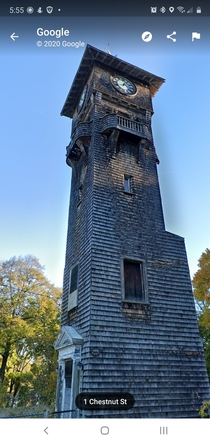 Abandoned clock tower in Norwood Massachusetts