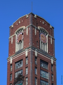 Abandoned clock tower of the Central Manufacturing District Chicago