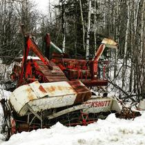 Abandoned Cockshutt Combine in Northern AB Canada